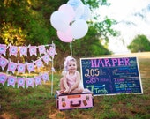Birthday Ruffles. Hand Crafted  Happy Birthday Banner with Antique Sheet Music and Ruffles