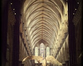 Sepia Art Print Architecture Photography - Papier Mache Angel in Salisbury Cathedral