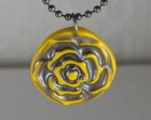 Yellow Rose Handmade Pendant Necklace