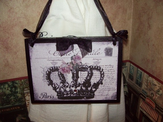 carte postale crown plaqueparis decorparis theme. Black Bedroom Furniture Sets. Home Design Ideas