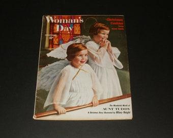 Vintage Womans Day Magazine December 1958 - Paper Ephemera Art Scrapbooking Vintage Ads Retro