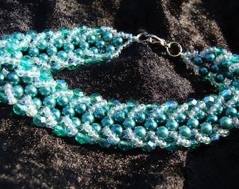 Beaded Bracelet in Green