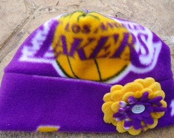 Los Angeles Lakers Fleece Flower Hat