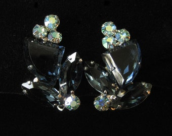 Confirmed D&E Delizza Elster Earrings, Juliana in Sapphire Blue