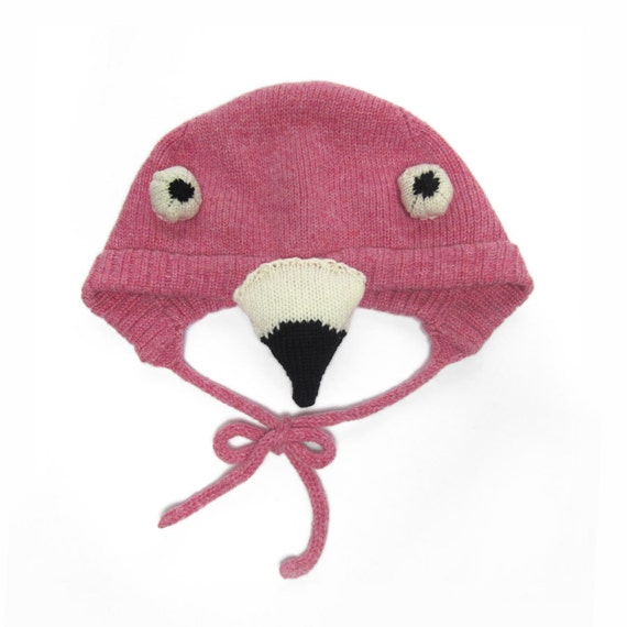 Baby Flamingo Knitted Hat