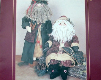 Vintage Old World Santas Kringle & Claus 22 Inch Copyright 1989