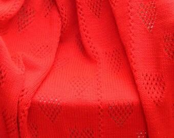 Heart's Desire Afghan MACHINE Knitting Pattern PDF & Instant Download VIDEO Tutorial