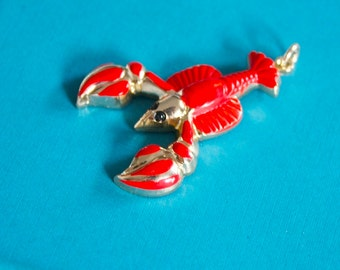 3 Vintage 1950s / 1960s Surrealist Lobster Pendants
