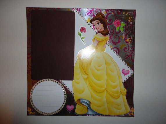 Disney Princess - Beauty and the Beast - Belle of the ball 8 x 8 scrapbook page