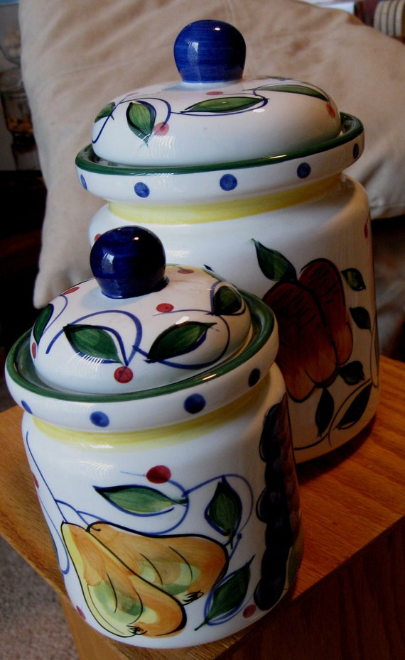 Tuscany Set Of 2 Ceramic Canisters By Jay Imports Tea