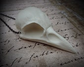 Bird Skull Necklace Crow Pendant - Goth Gift Dark Tower