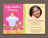 Girl 5th Birthday or Any Age - Photo Invitations