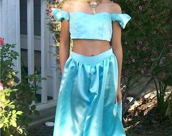 Custom Made Princess Jasmine Genie Arabian Style ADULT Costume From Aladdin Womens Sizes 2,4,6,8,10,12,14
