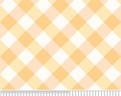Yellow Plaid Fabric Promenade by Riley Blake Fabric by the Half Yard