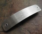 Medium Brushed Bright Nickel Silver Barrette