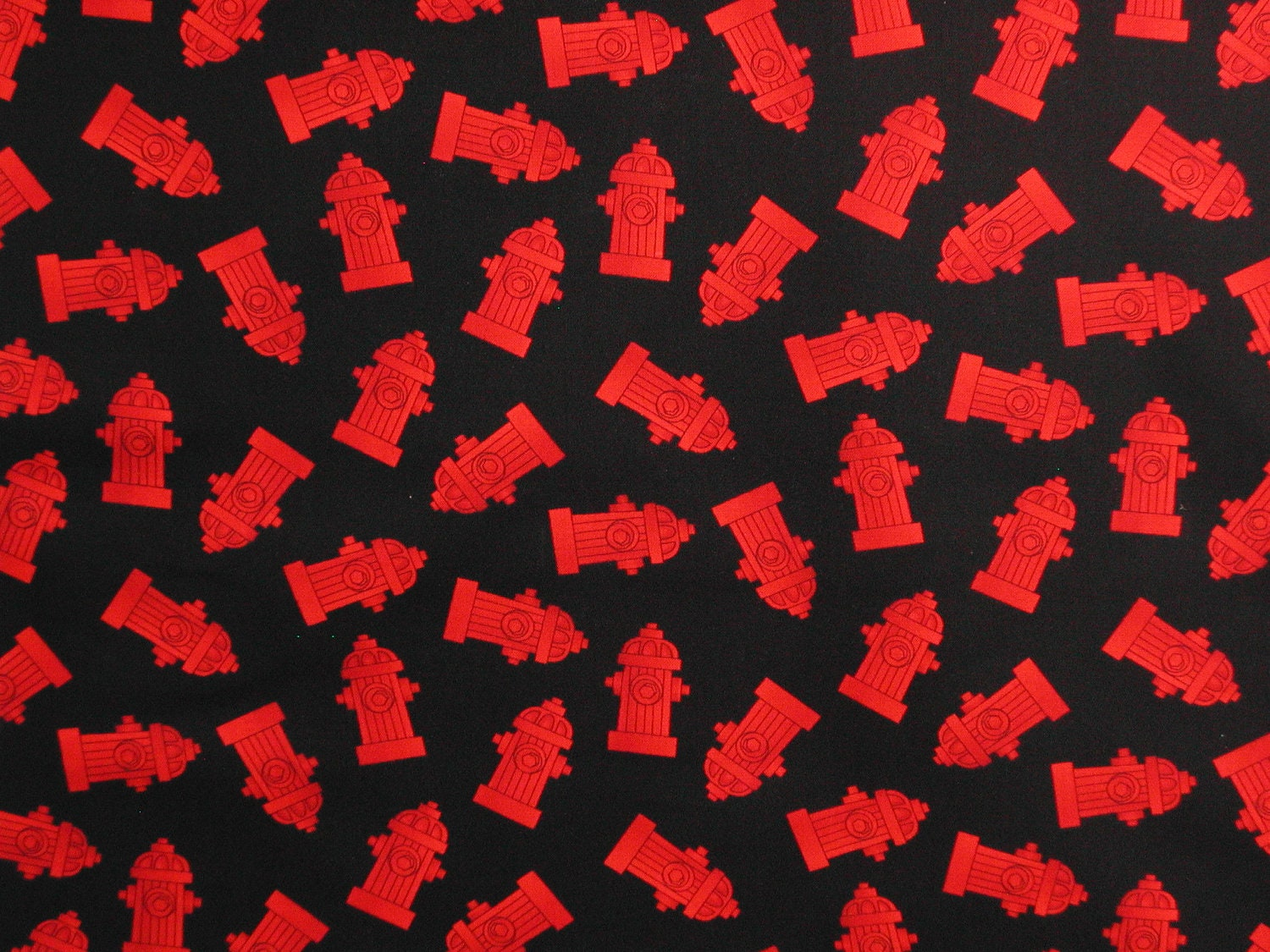 Fire Hydrant Fabric-Fireman Quilts-Table by ginnyandco on Etsy