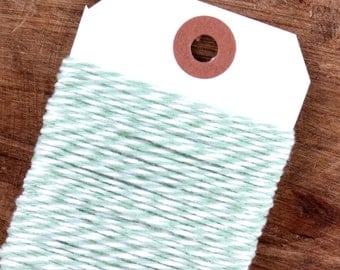 Mint Green Bakers Twine, Mint Green Twine, Mint Twine, Sage Green Twine, Cotton Twine, Gift Wrap, Baker's Twine, Bakers String (15 yds)