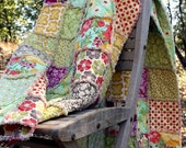 Rag Quilt CUSTOM Throw - Reversible - Any Color Any Pattern