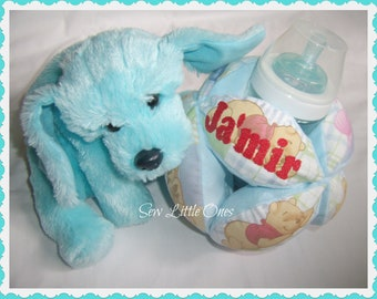 Personalize Pooh Bear Baby Bottle Holder Ball