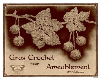 Fabulous Vintage Crochet Patterns in French - Gros Crochet pour Ameublement (2) c.1927
