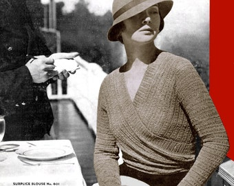 Bear Brand & Bucilla (68) c.1933 - Hand Knitted Chic, Knitting and Crochet Patterns of the 1930's