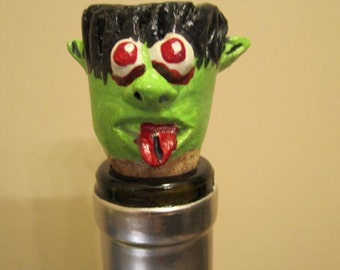 Wicked Green Monster Wine Stopper