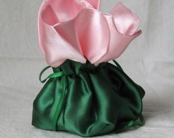 Jewelry Bag, Presentation Bag, Rose,  anti-tarnish jewelry bag, Christmas, Anniversary, Wedding, Valentine's