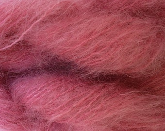Mohair Yarn in Pink Pear Fingering Weight