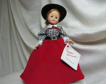 Vintage Madame Alexander Doll, Gibson Girl,  10 Inch Madame Alexander Vintage Doll