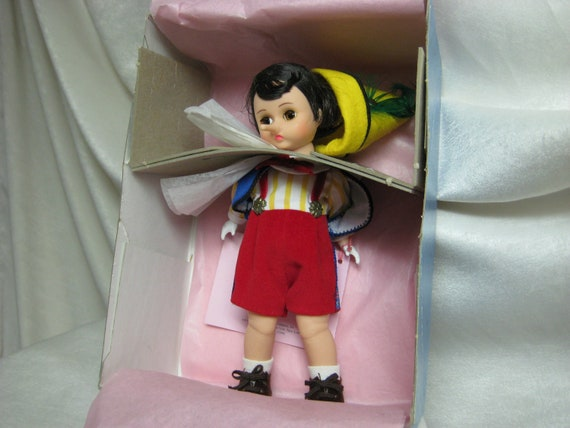 """Wendy Face  Pinocchio  8"""" Doll No. 477 From Madame Alexander  Dolls 1992 - 1993  The Storyland  Series"""