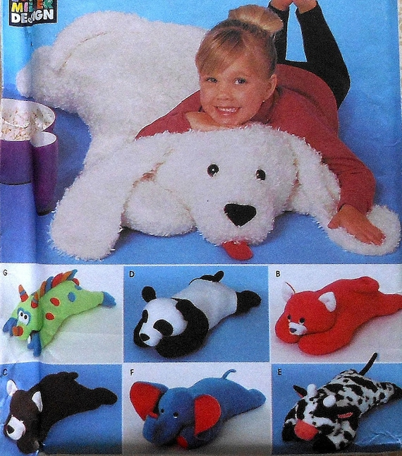 Animal Pillow Patterns To Sew : Animal Floor Pillows Sewing Pattern UNCUT by latenightcoffee