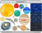Our Solar System - NOT COMMERCIAL USE - Digital Clip Art - solar system planets science educational teach