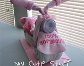 Motorcycle Diaper Cake - Baby Shower - Nursery Gift - It is a Girl