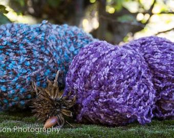 Yarn Lot - Blues and Purples - Susan Bates Acrylic Knitting Needles