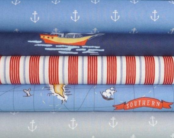 Sarah Jane, Ahoy There, Fat Quarter bundle