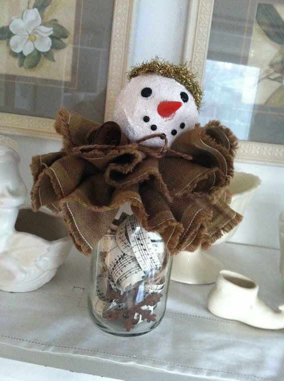 Items similar to sale 15 off use coupon code goodbye15 for Rustic snowman decor