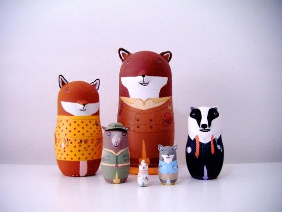 The Fantastic Mr Fox Matryoshka Dolls Reserved For Karen