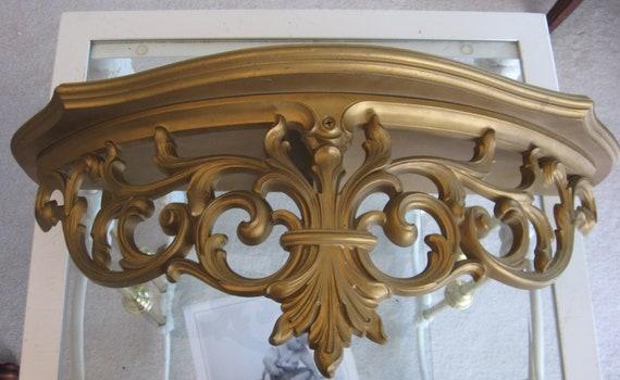 Vintage Syroco Shelf Ornate Gold Gilt Florentine Italian Wall