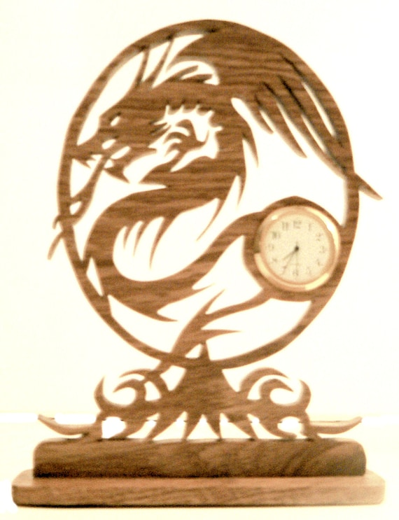 Tribal Mini Clock    oak
