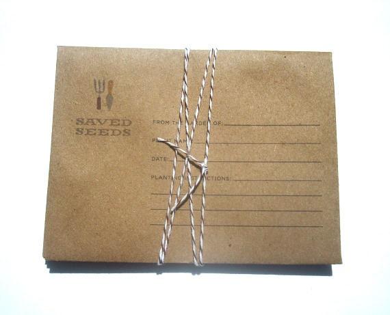 seed saver envelopes - set of 6