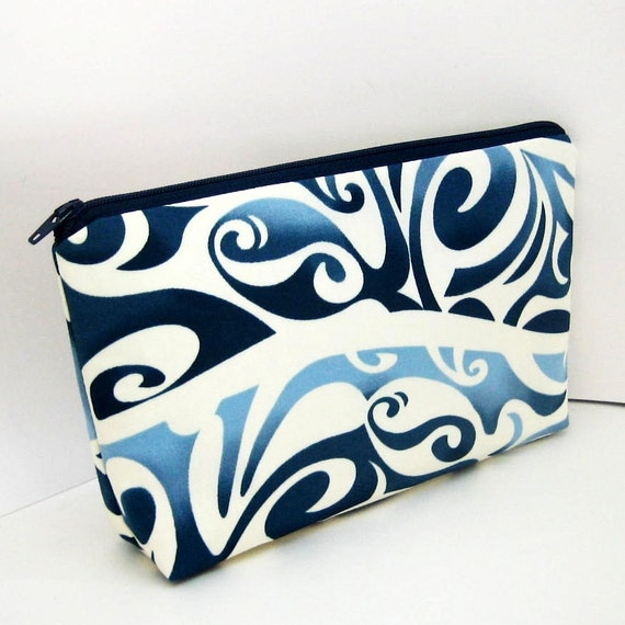 Make-up Bag  BLUE WAVE Cosmetic Zipper Pouch