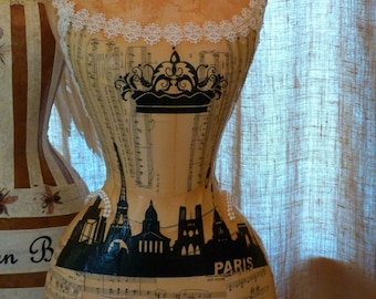 Paris French Inspired Dress Form Mannequin Crown Custom Free Ship & Layaway Available