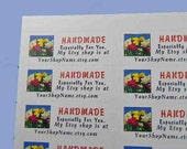 30 PERSONALIZED Handmade Especially For You White 1-Inch Labels. 2851