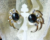 industrial, mechanical chic midnight earrings