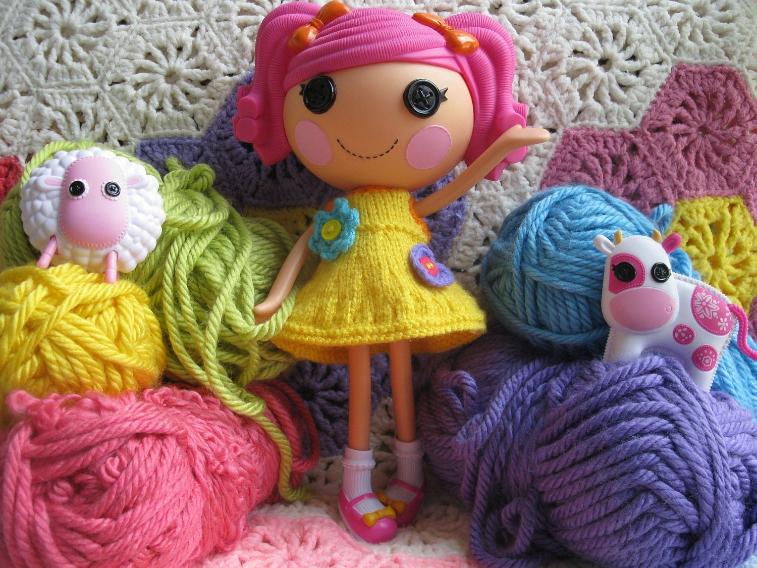 Knitting Pattern for Lalaloopsy Doll Clothes Dress PDF Instant