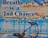 Breath ACEO Wood Art Block Original Design