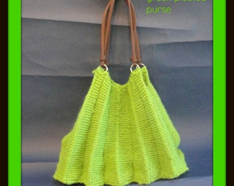 green pleated purse