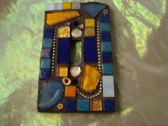 MOSAIC Light Switch - Blue and Gold