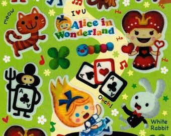Kawaii Alice in Wonderland Sticker Sheet