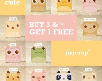 Offer Cute Animal Giftbox: Buy 3, Get 1 FREE - Printable PDF